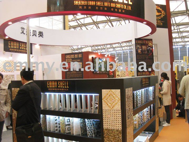 Our Booth Photo In Expo Uild China 2010 - Buy Shell Wall Tiles,Shell Wall Decorative Tiles,Wall Tiles Product on Alibaba.com