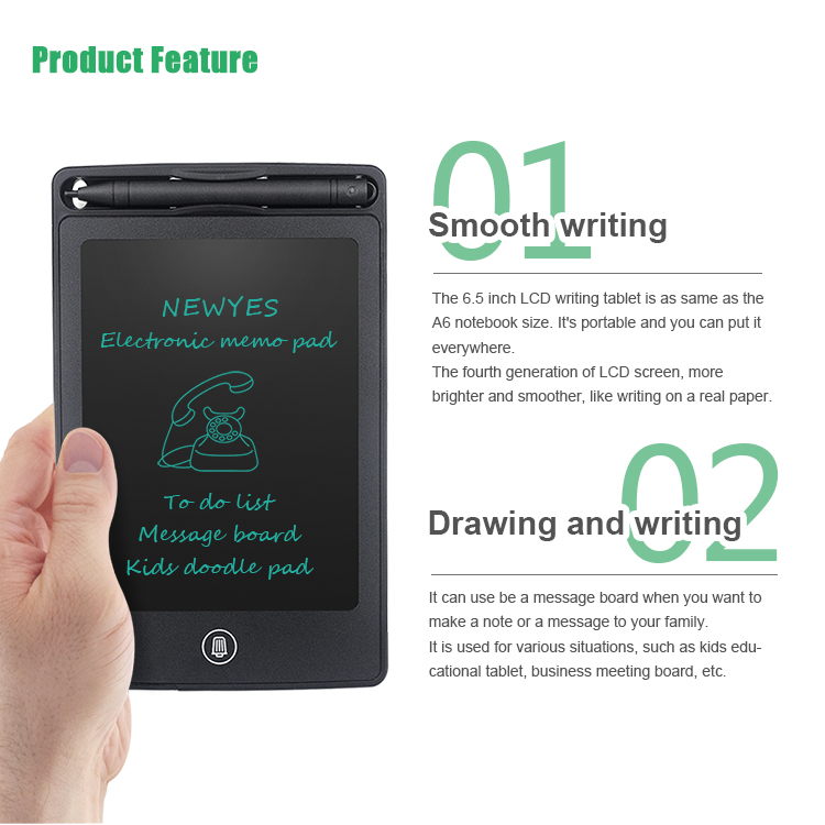 Wholesale 6.5 Inch Digital Erasable Graffiti Pad Electronic Lcd Drawing Writing Tablet
