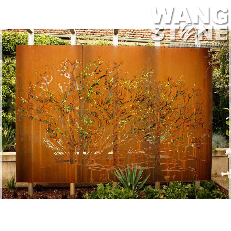Laser Cut Corten Steel Garden Screen Wall Art Tree Buy