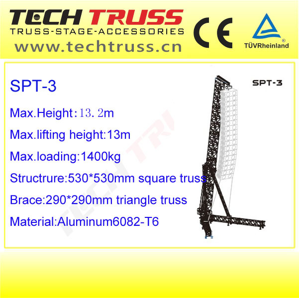 Speakers hanging truss concert lighting tower truss