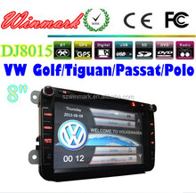 8 inch car gps for skoda/vw/seat with 3D Rotating UI PIP GPS BT TV IPOD RADIO 3G etc DJ8015