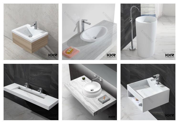 Kingkonree Sanitary Ware Porta Pedestal Hand Wash Basin