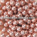 small drilled copper ball for jewelry