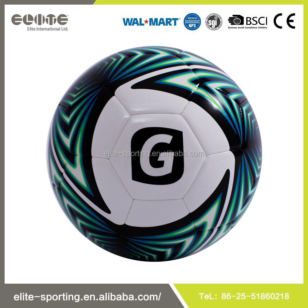 china supplier seamless laminated soccer and football training