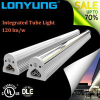 CE ROHS school/ home/ office/ factory lighting led tube integrated 18 watt 4 feet t8 led tube light from China factory