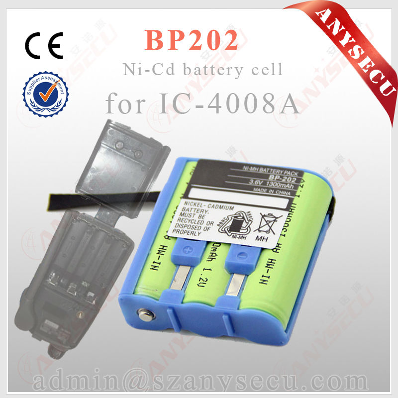 walkie talkie 3.6V 1300mAH battery pack BP202