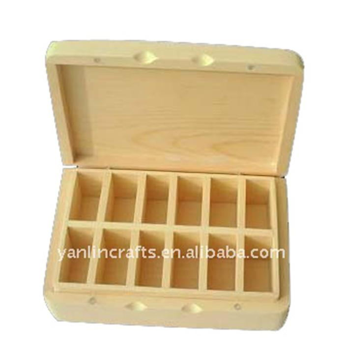 Pinewood unfinished small wood storage boxes wholesale