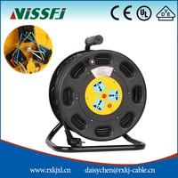 Hot sale 3pin multi-purpose socket portable cable reel retractable cable reel