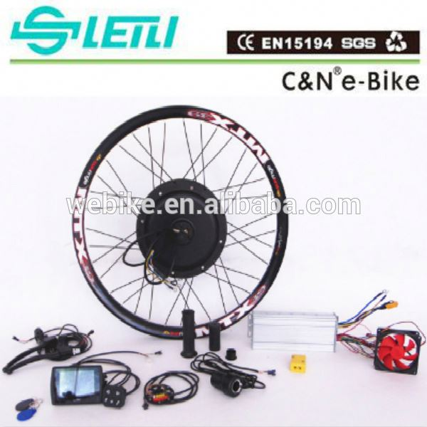 TFT display 48v 1000w 2000w 3000w electric bike kit /ebike conversion kit with battery with LCD display