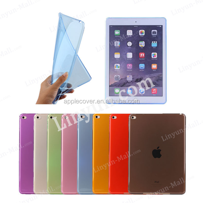HOT ! Ultra Thin Transparent Clear TPU Case For iPad Mini 4 , For apple iPad Mini 4 case TPU