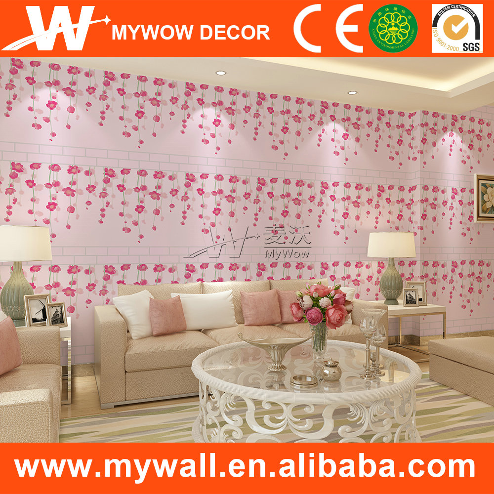 pvc waterproof wallpaper harga kertas dinding specification for wallpaper