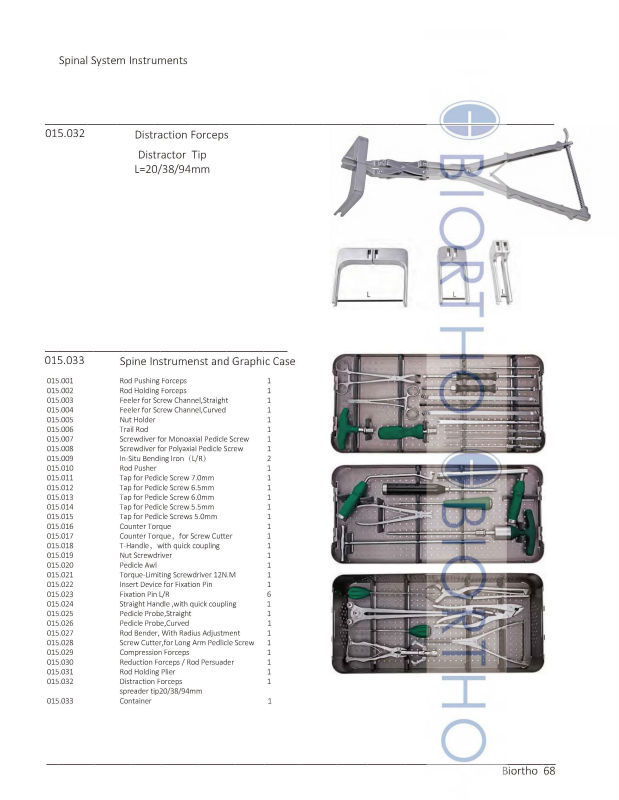 AO Standard Spinal Screw Rod System Instruments Set, Orthopedic Instruments