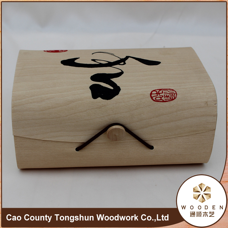Mytest Unfinished Wooden Storage Gift Box For Tea