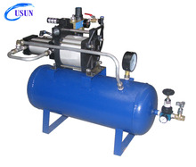 USUN Model: AB05T-B 5:1 30-40 Bar Air pressure booster system with 40 Liters tank and pressure regulator