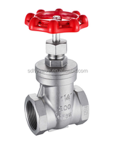 "Mini 1/2"", 3/4"", 1"", 2"", 3"", 4"" inch gate valve with stainless steel material"