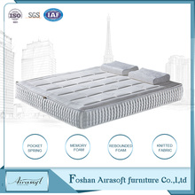 Bedroom furniture super single bed pocket spring mattress