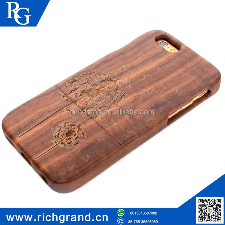 Factory direct sales wood shell cell phone case For iPhone5 6/6S 6plus