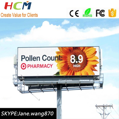Large outdoor advertising Price SMD P8 P10 led programmable sign Cheap led display board