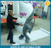 Good quality new arrival advertisement inflatable whale cartoon,inflatable whale mascot