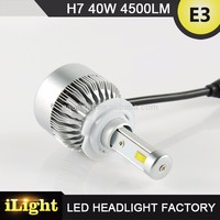 standard beam pattern led h7 captiva headlight with DOT,E-mark,CE,ISO9001