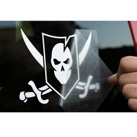 Custom Die Cut Vinyl Transparent Bumper Window Car Sticker