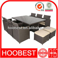 Poly rattan furniture, Factory Manufacturer Direct Wholesale, Space saver dining set (Folding Back Rattan Chair)