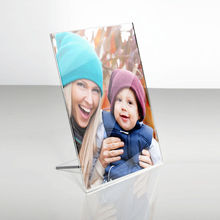 2x2 acrylic stand table photo frame plexiglass Freestanding Picture Frame