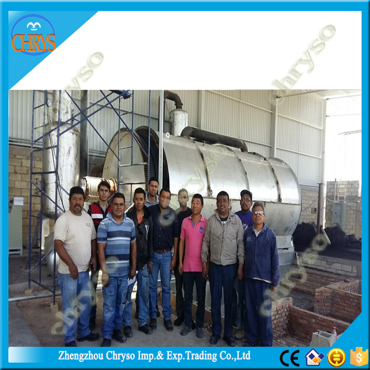8 years use life crude oil extraction pyrolysis tire recycling system
