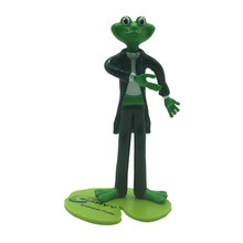 Custom Frog Cartoon Bendable Action Figure Inside Metal Wire with Base