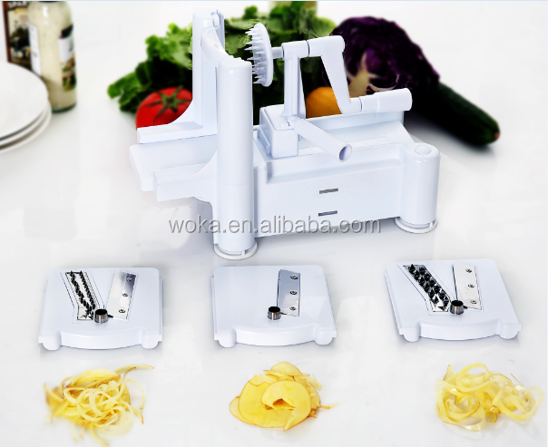 kitchen potato spiral cutter hand held food chopper vegetable spiral slicer