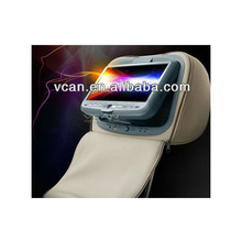 9'' car pillowbag dvd headrest player USB FM support 32bits Game HAV-931-1