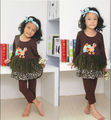 2014 new arrival Halloween Cotton baby turkey printed with ruffle in the bottom autumn style