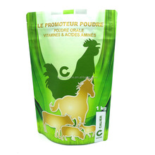 Custom Logo Design Vivid Printed Food Grade Animal Livestock Feed Packaging Bag With Zipper For Dog Food