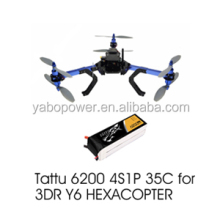 14.8V 60C 4S 6200mah Lipo Battery For 3DR Y6 HEXACOPTER