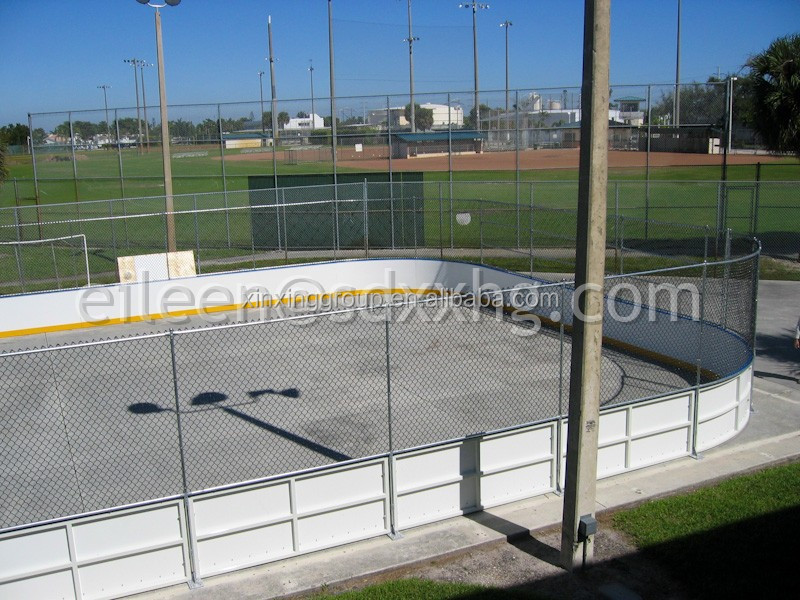 HDPE plastic dasher board barrier, Indoor Soccer Facilities