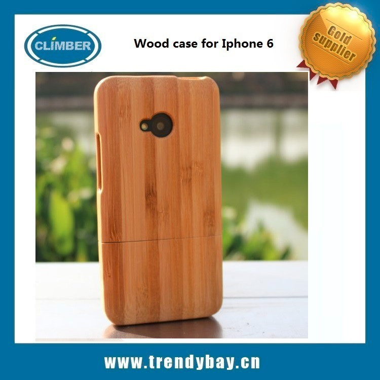 high quality wood case for htc one m7 , phone case wood