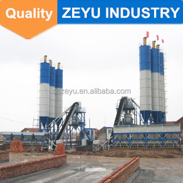 Roady mini mobile concrete mixing plant with 60t/h capacity HZS60