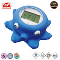 Safe phthalate and BPA free octopus floating bath thermometer baby