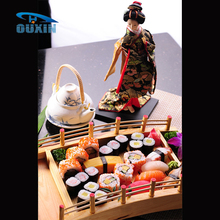 Popular Reusable Wooden Bridge Shapes Sushi Display Tray