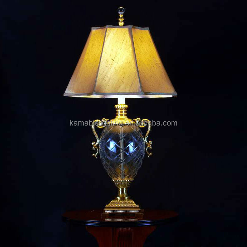 Crystal brass home decorative classical table lamps