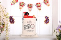 Hot canvas shopping gift bag for drawstring Halloween bags wholesale Christmas bag (C03)