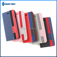 [Smart Times] Custom Flip Cover PU TPU Case With Stripe Design Leather Case For Iphone 6