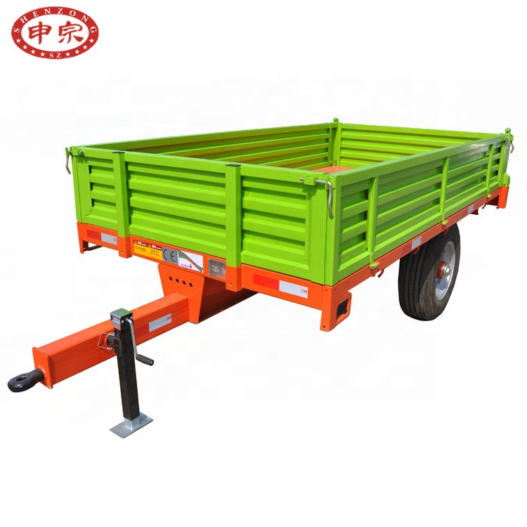 4 ton 900-16 wide tire single <strong>axle</strong> <strong>rear</strong> dump farm trailer