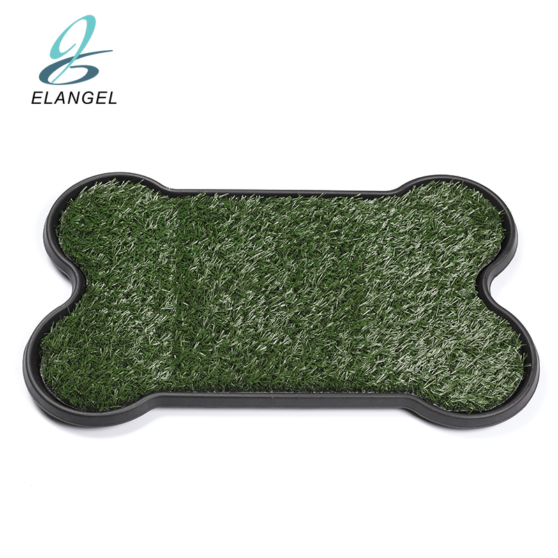"17*27"" Bone Shape Portable Pet Indoor Toilet Dog/Cat Potty Patch Pet Training Potty Patch Pads Pet Toilet Mat Dog Bone Grid Tray"
