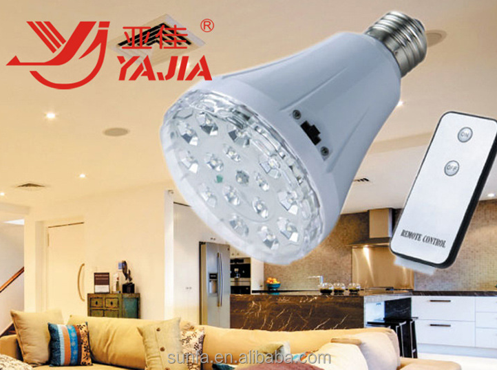 Rechargeable led emergency bulb with remote controller YJ-1895