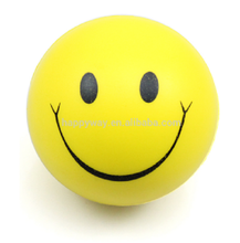 PU Foam Funny Smily Face Custom Stress Ball , MOQ100 PCS 0101023