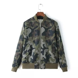 MS67454W 2016 stand collar fashion women new camo jackets