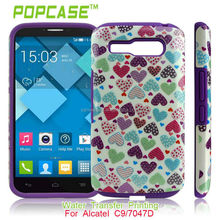 Silicone with back cover for alcatel one touch pop c9
