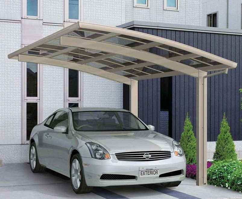 Modern design metal car shade port aluminum