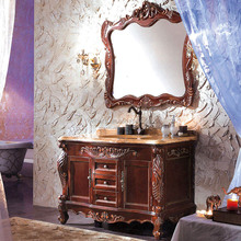 WTS3044 49 inch American Style Antique Bathroom Cabinet floor standing solid carved sink bathroom vanity Cabinets combinatio
